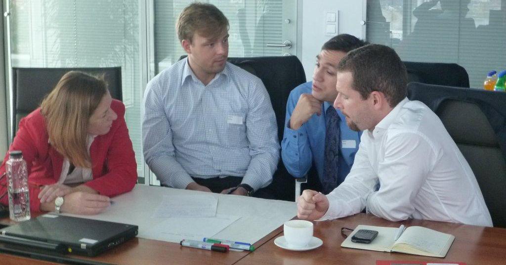 4 Projektmitglieder im World Café