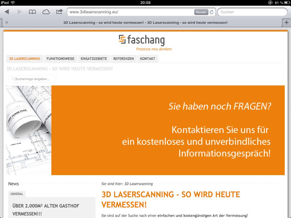 Querformat der 3dlaserscanning.eu Website