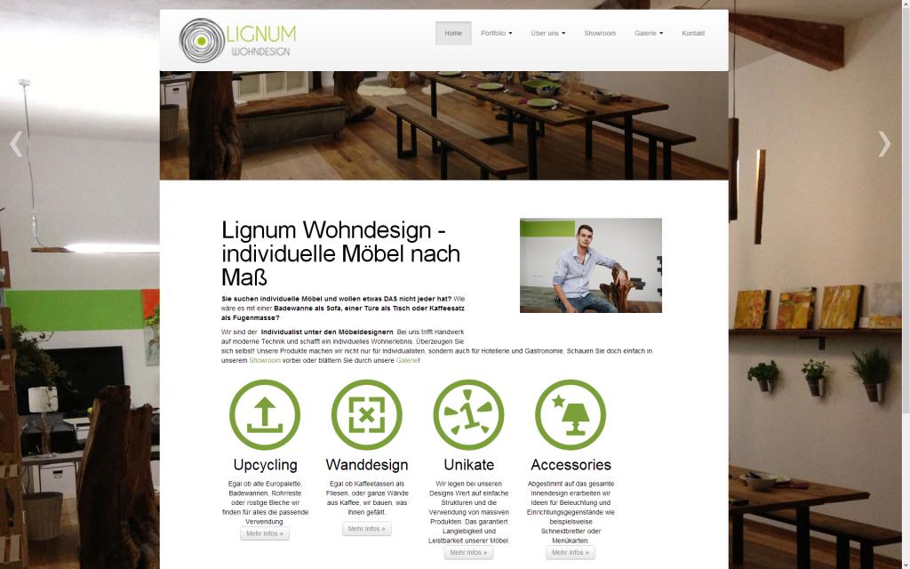 Desktop-Ansicht lignum-wohndesign.at