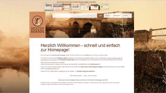 NEUE meine-webpage (webeasy) Designs (inkl. Responsive Design)!