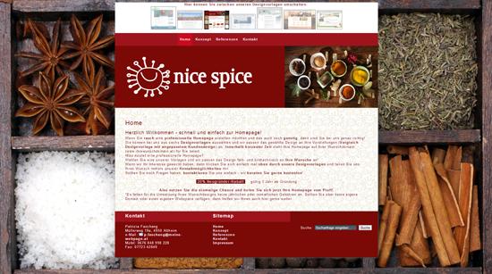 """meine-webpage Design """"nicespice"""""""