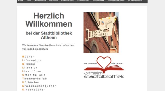 Launch eines WordPress Blogs für die Stadtbibliothek Altheim
