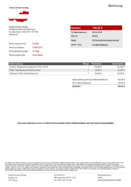Austria Domain Hosting – Rechnungen sind Betrug!