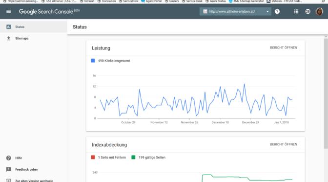 Die Google Search Console: neues Design und zusätzliche Funktionen
