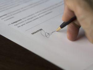 unterschrift-vertrag