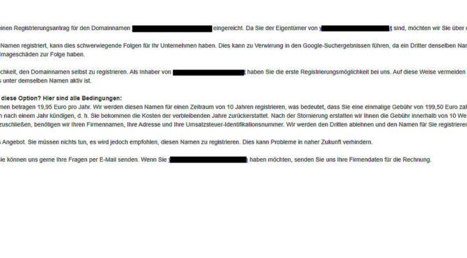 DNS Austria – Vorsicht! Irreführende Mails im Umlauf!