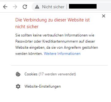 nicht-sicher-website