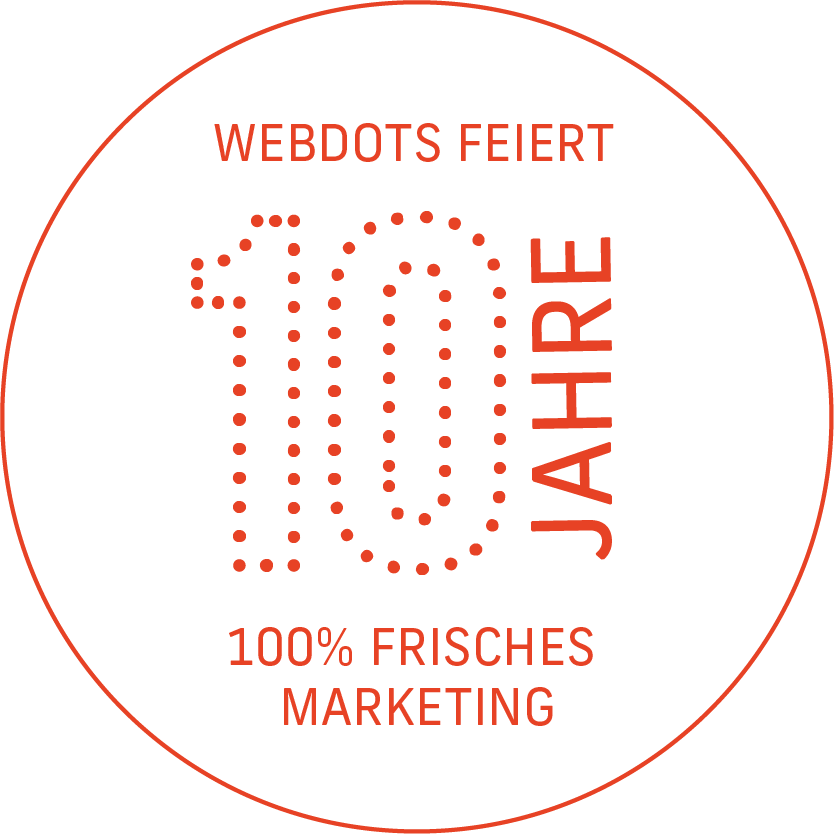Wir feiern 10 Jahre Webdots!