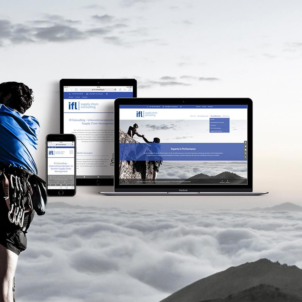 Website und Fotografie für ifl Consulting
