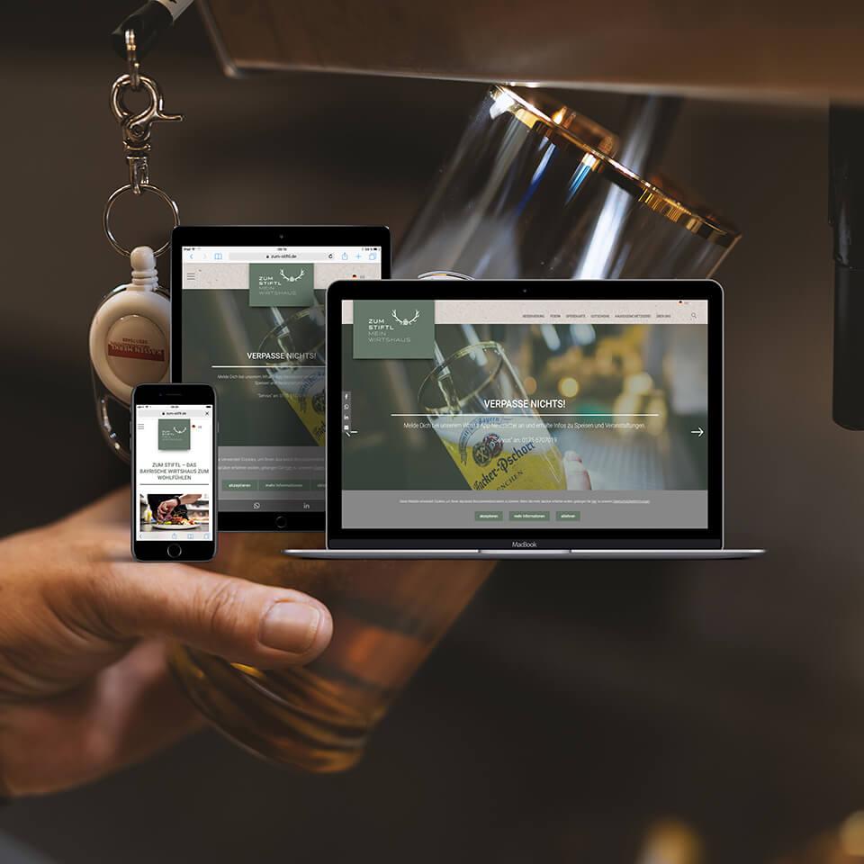 Cooperate Identity (CI), Fotografie und Website für Stifl