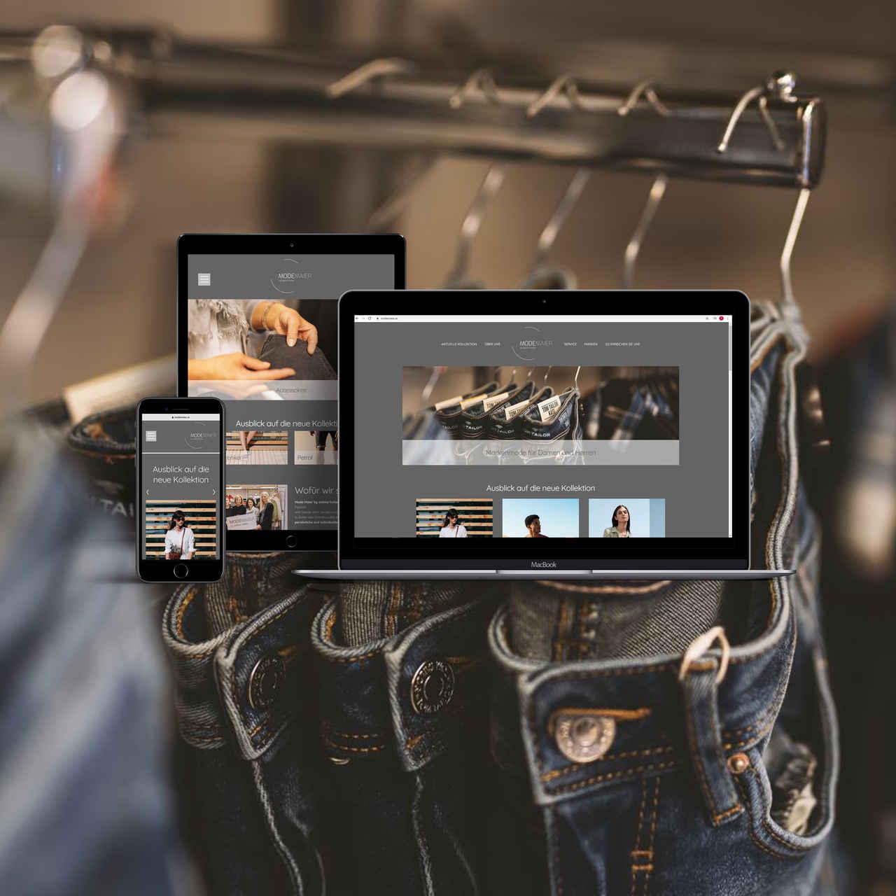 Website und Grafik/Design für Mode Maier